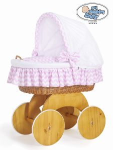 Moses Basket/Wicker crib with hood Hannah no. 50102-901*