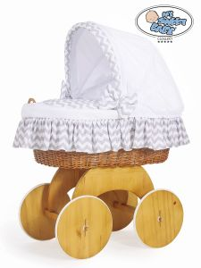 Moses Basket/Wicker crib with hood Hannah no. 50102-902*