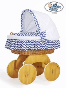 Moses Basket/Wicker crib with hood Hannah no. 50102-903*