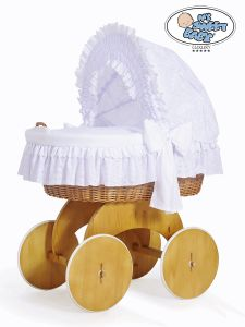 Moses Basket/Wicker crib with hood Charlotte no. 50102-906