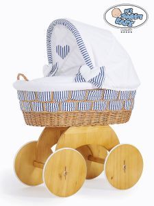 Moses Basket/Wicker crib with hood Marina no. 50102-907*