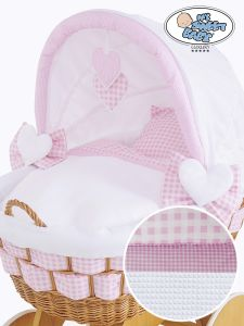 Cover set 4 pcs for Wicker crib Isabella no. 50102-908* or 70102-908*