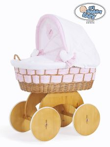 Moses Basket/Wicker crib with hood Isabella no. 50102-908*