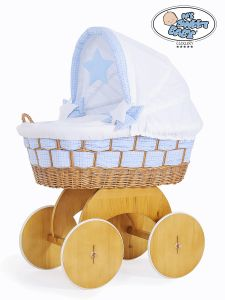 Moses Basket/Wicker crib with hood Isabella no. 50102-909*