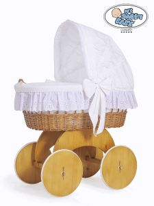 Moses Basket/Wicker crib with hood Sophia no. 50102-912