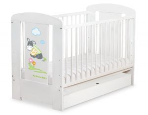 Baby cot 120x60cm Donkey Luca with drawer STANDARD