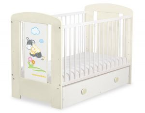 Baby cot 120x60cm Donkey Luca with drawer MAXI