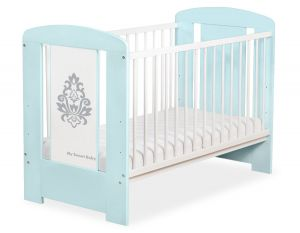 Baby cot 120x60cm Glamour no. 5015-02-1
