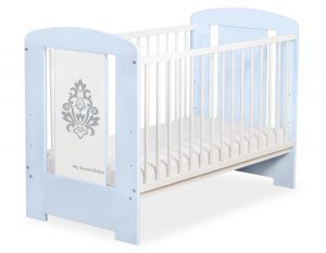 Baby cot 120x60cm Glamour no. 5015-03-1