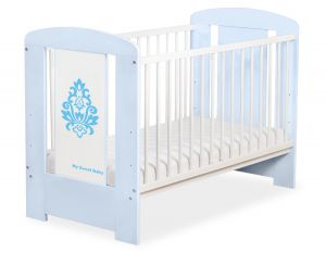 Baby cot 120x60cm Glamour no. 5015-03-3