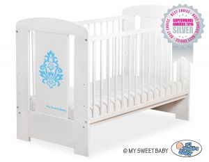 Baby cot 120x60cm Glamour no. 5015-07-3- blue