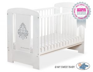 Baby cot 120x60cm Glamour no. 5015-07-1- grey