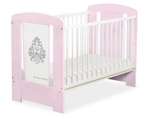 Baby cot 120x60cm Glamour no. 5015-08-1