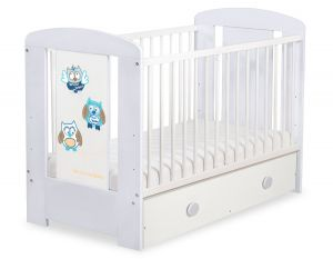 Baby cot 120x60cm Owls with drawer MAXI