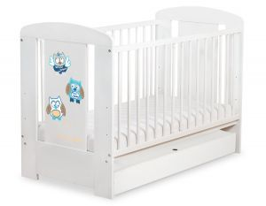 Baby cot 120x60cm Owls with drawer STANDARD