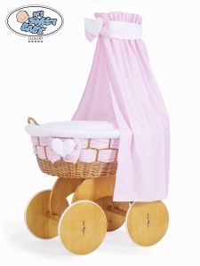 Moses Basket/Wicker crib with drape Isabella no. 50202-908*
