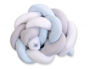 Knot bumper- white-gray-blue