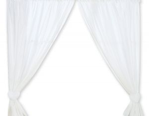 Curtains for baby room- Hanging Hearts white