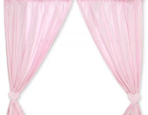 Curtains for baby room- Hanging Hearts pink