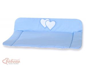 Soft changing mat- Hanging Hearts blue