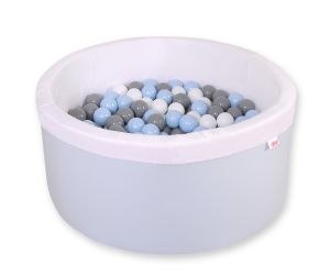 Ball-pit minky  with balls - blue