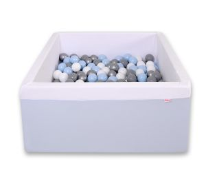 Ball-pit minky with balls 200pcs -blue