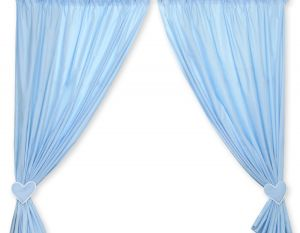 Curtains for baby room- Hanging Hearts blue