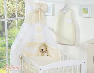 Canopy made of Chiffon- Hanging Hearts cream
