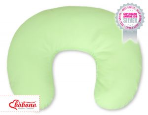 Extra cover for feeding pillow- Hanging Hearts green