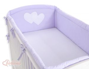 Universal bumper XXL- Hanging Hearts lilac