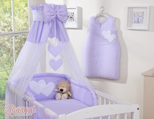 Canopy made of Chiffon- Hanging Hearts lilac
