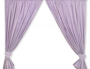 Curtains for baby room- Hanging Hearts lilac