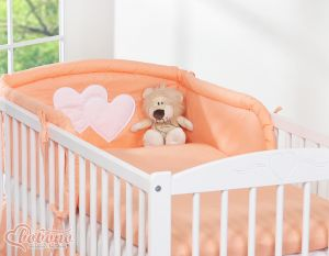Universal bumper- Hanging Hearts peach