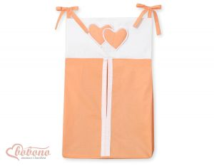 Diaper bag- Hanging Hearts orange