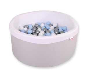 Ball-pit minky  with balls - gray