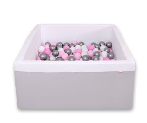 Ball-pit minky with balls 200pcs - gray