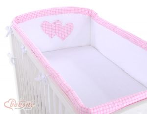 Universal bumper XXL- Hanging Hearts pink checkered