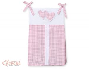 Diaper bag- Hanging Hearts pink checkered