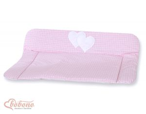 Soft changing mat- Hanging Hearts pink checkered
