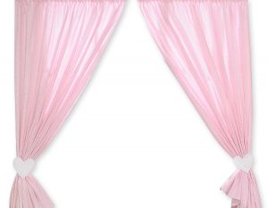Curtains for baby room- Hanging Hearts pink checkered