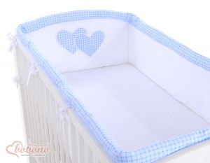 Universal bumper XXL- Hanging Hearts blue checkered