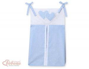 Diaper bag- Hanging Hearts blue checkered