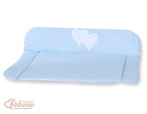 Soft changing mat- Hanging Hearts blue checkered