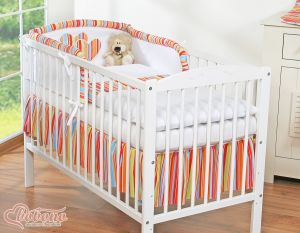 Bedding set 3-pcs- Hanging Hearts orange strips