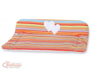 Soft changing mat- Hanging Hearts orange strips