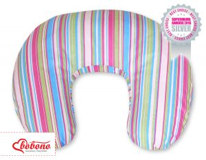 Extra cover for feeding pillow- Hanging Hearts lilac strips