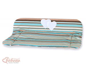 Soft changing mat- Hanging Hearts brown strips