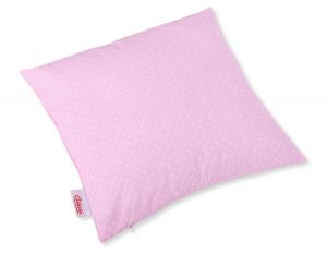 Pillow case - white polka dots on pink