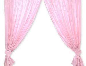 Curtains for baby room- Hanging Hearts white polka dots on pink