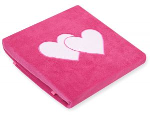 Polar fleece blanket- Hanging hearts dark pink